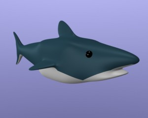Correct rendered shark