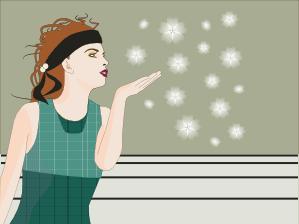 Inkscape tutorial - fashionable woman