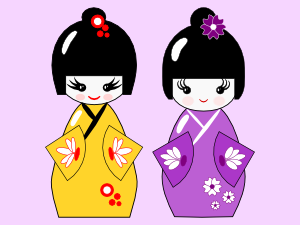 Inkscape tutorial for beginners: Japanese style Kokeshi dolls