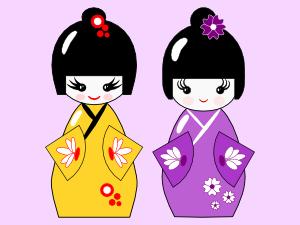 Inkscape tutorial for beginners: Japanese style Kokeshi dolls