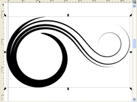 Inkscape tutorial to create flowing spiro swirls